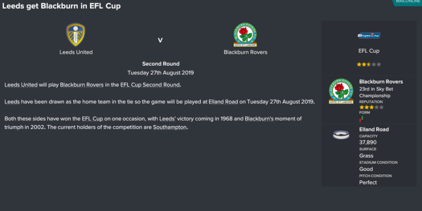 cup draw